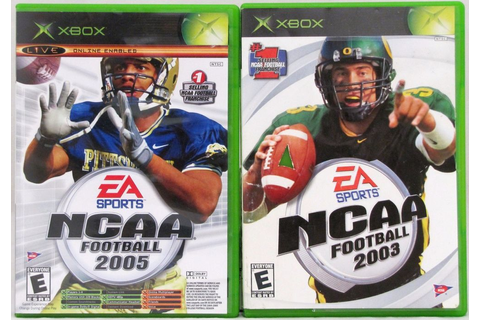 NCAA Football 2003 2005 and Top Spin Tennis Microsoft Xbox ...