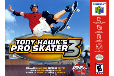 Tony Hawk's Pro Skater 3 Nintendo 64 Game