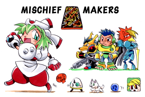 MISCHIEF MAKERS envelope(Art only) by EsusE on DeviantArt