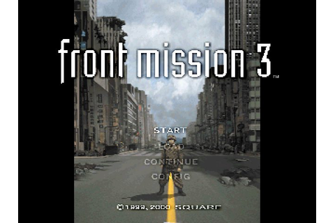 Front Mission 3 (1999) by Squaresoft PS game