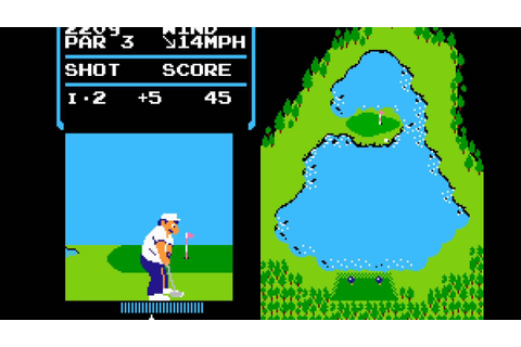 NES Game: Golf (1984 Nintendo) - YouTube