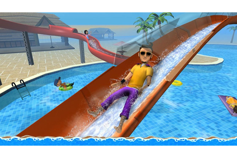 Aqua Park Speed Coaster Slide Cool Water Race Simulator ...