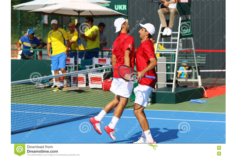Davis Cup Tennis Game Ukraine V Austria Editorial Stock ...