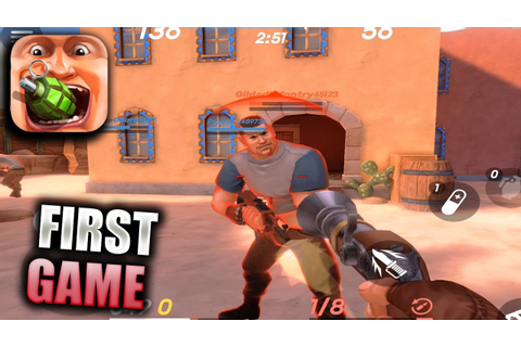 GUNS OF BOOM Gameplay Part 1 - First Game (iOS Android ...