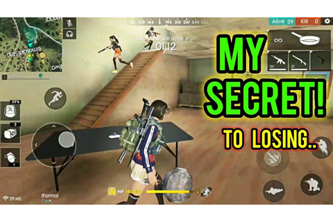THE SECRET TO MY GAMES - Free Fire Battlegrounds - YouTube