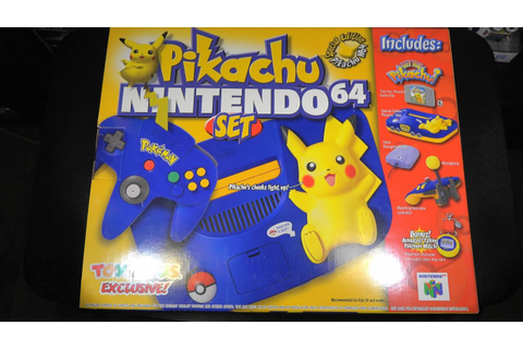 Pikachu Nintendo 64 Special Edition With Hey You, pikachu ...