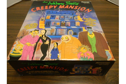 The Addams Family Creepy Mansion Action Game Board Game ...