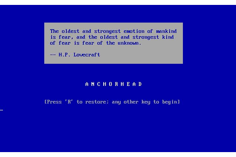 Anchorhead Download (1998 Adventure Game)