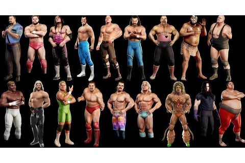 Partial roster of WWE Legends of Wrestlemania game | WWE ...