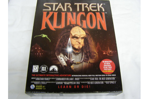 Star Trek Klingon learn Or Die Adventure Game | eBay