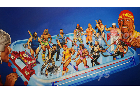Someone Bought This: WWF Superstars Shoot-Out Hockey game ...