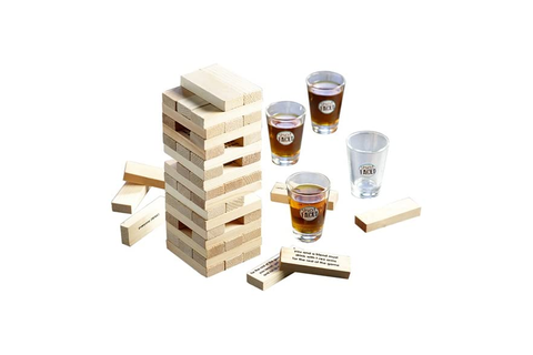 Shot Glass Tipsy Tower Drinking Game Set