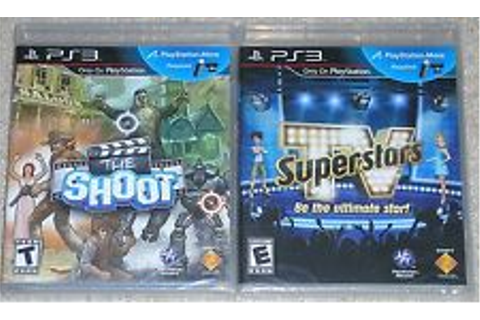 PS3 Game Lot - The Shoot (New) TV Superstars (New) PS Move ...