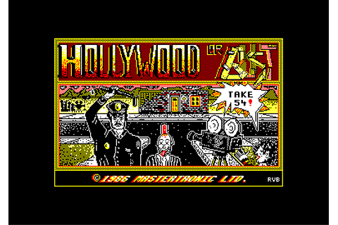 CPCRULEZ > AMSTRAD CPC GAMESLIST > HOLLYWOOD OR BUST (c ...