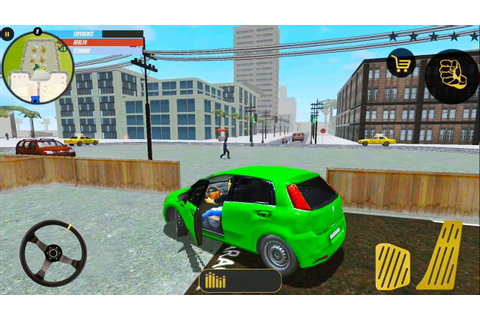 Green Hatchback Car Drive In Open City Game - Android ...
