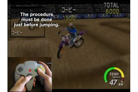 How to do a 360° (kobe) on Excitebike 64 - YouTube