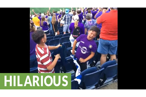 Kid goes crazy at MLS game after Orlando City scores goal ...