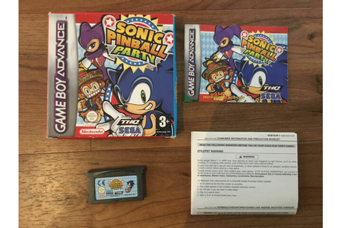 Sonic Pinball Party - Game Boy Advance - UK PAL - 100% ...