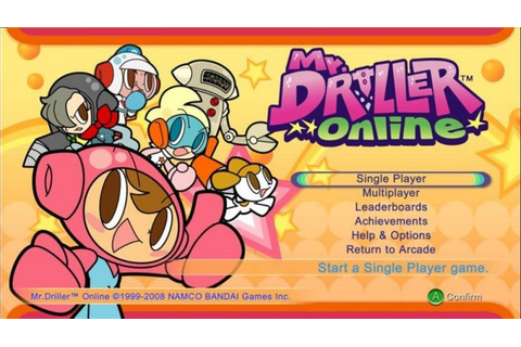 Mr. Driller Online (2008) by Namco Bandai Games X360 game