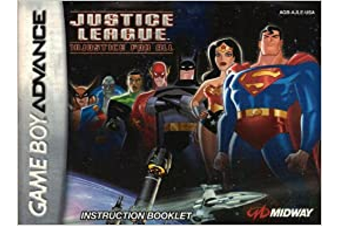 Justice League - Injustice For All GBA Instruction Booklet ...