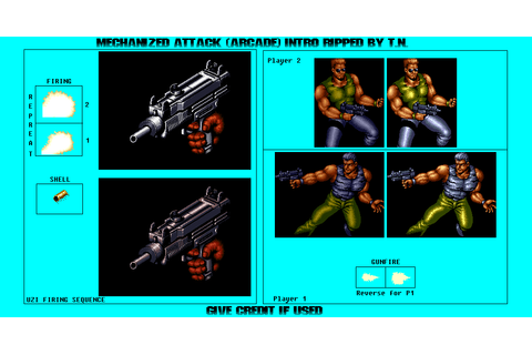 Arcade - Mechanized Attack - Intro - The Spriters Resource