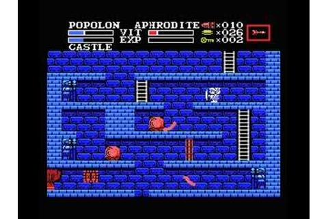 The Maze of Galious, beginning, the castle - YouTube