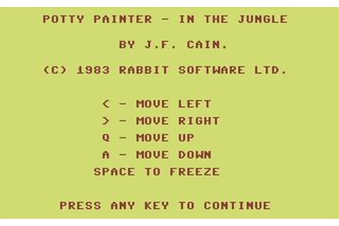 Download Potty Painter in the Jungle (Commodore 64) - My ...