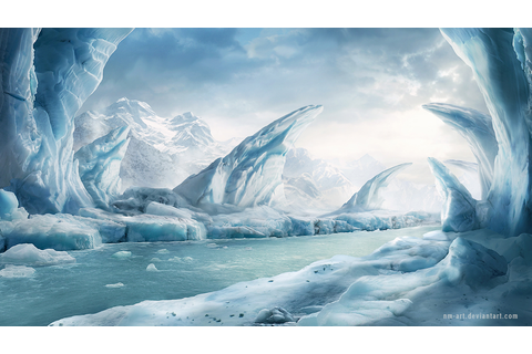 Ice area - background for game by NM-art on DeviantArt