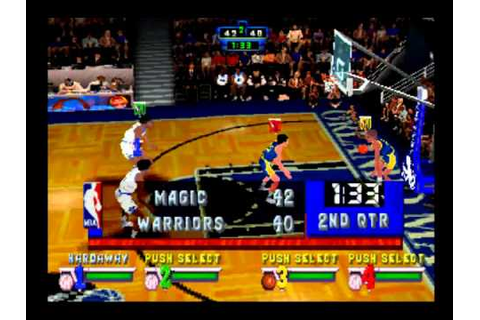 NBA JAM EXTREME/ MAGIC VS WARRIORS [PS1] [HD] - YouTube