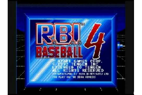 RBI Baseball 94 (Select) Screen (Sega Genesis) - YouTube