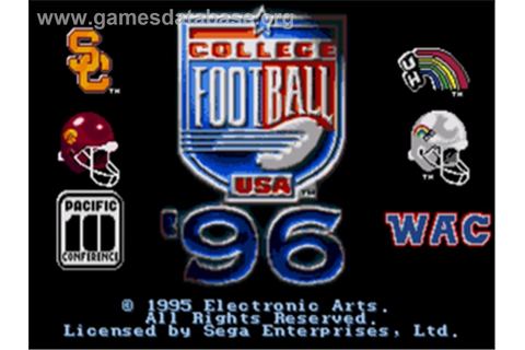 College Football USA 96 - Sega Nomad - Games Database