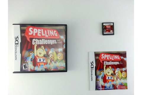 Spelling Challenges game for Nintendo DS (Complete) | The ...