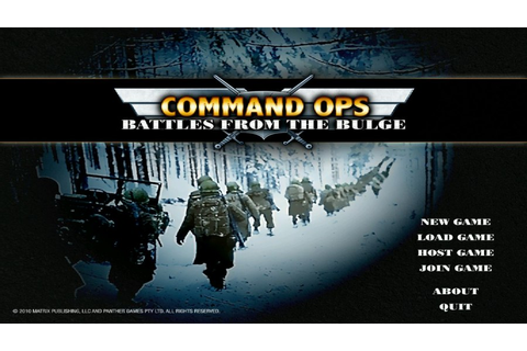Command Ops: Battles from the Bulge (PC) | Muropaketti.com