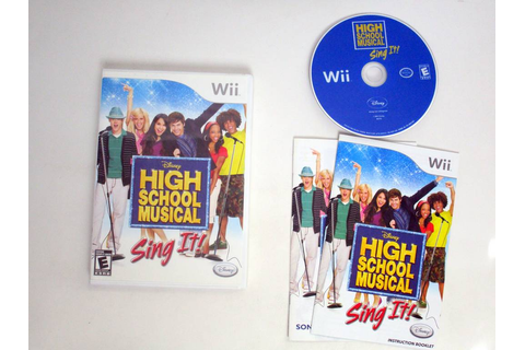 High School Musical Sing It game for Nintendo Wii | The ...
