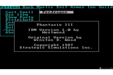 Phantasie 3 gameplay (PC Game, 1987) - YouTube