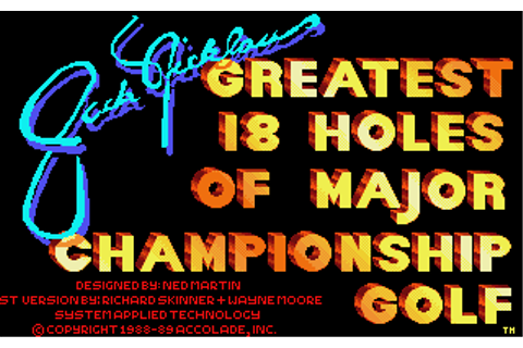 Download Jack Nicklaus' Greatest 18 Holes of Major ...
