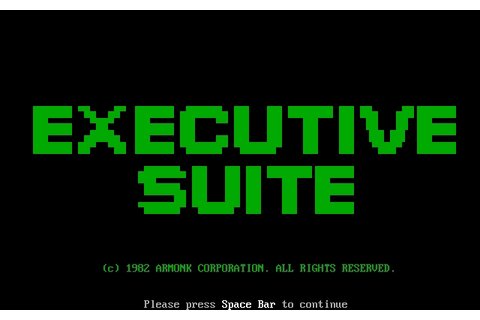 Download Executive Suite simulation for DOS (1982 ...