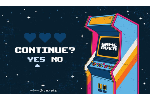 Game over arcade illustration - Vector download