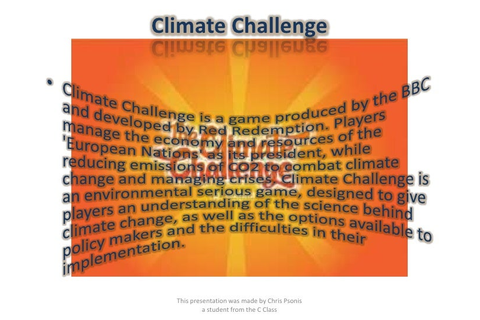 Global warming games