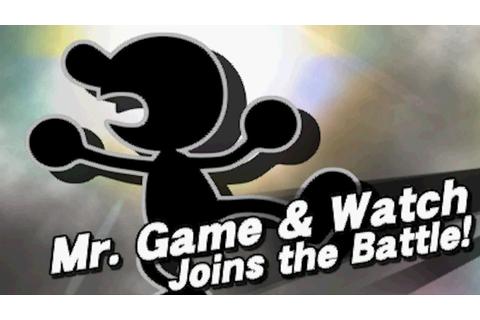 Super Smash Bros 4 (3DS) - How to Unlock Mr. Game & Watch ...