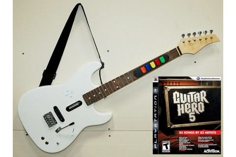 PS3 Guitar Hero 5 Game + NEW Full Size Wireless Controller ...