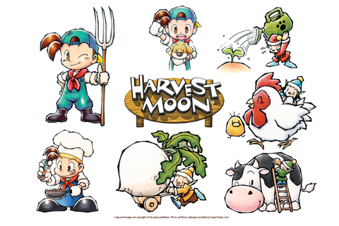 Wallpapers for Harvest Moon: Friends of Mineral Town ...