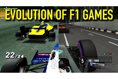 The Evolution of F1 Games (1989 - 2017) - YouTube