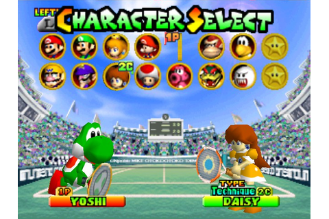... Tennis Online N64 Game Rom - Nintendo 64 Emulation on Mario Tennis