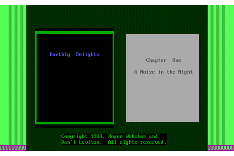 Earthly Delights (1983) by Datamost MS-DOS game