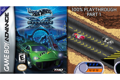 Hot Wheels Velocity X GBA 100% Playthrough - Part 1 - YouTube