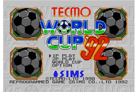 Download Tecmo World Cup '90 (Genesis) - My Abandonware