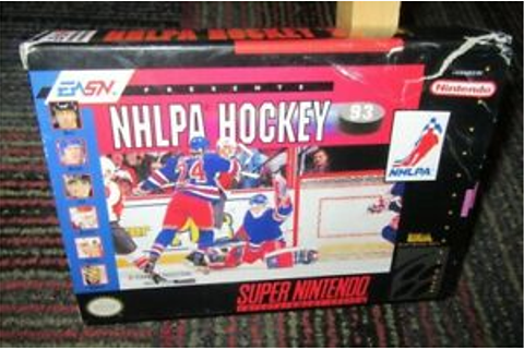 NHLPA HOCKEY 93 GAME FOR SUPER NINTENDO SNES, COMPLETE IN ...