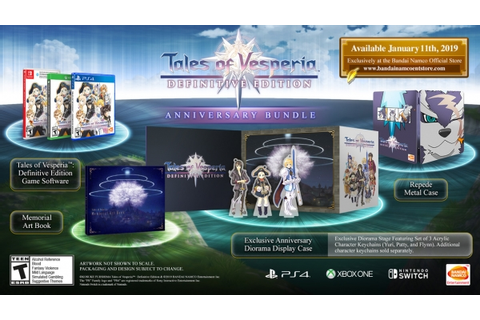 Tales of Vesperia: Definitive Edition limited editions ...