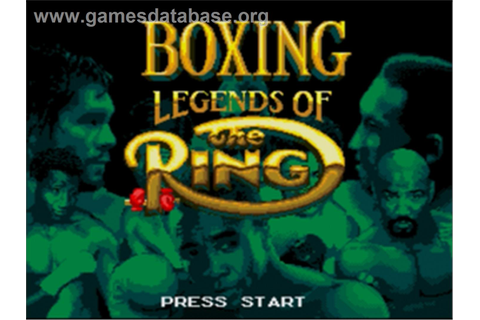 Boxing Legends of the Ring - Sega Nomad - Games Database